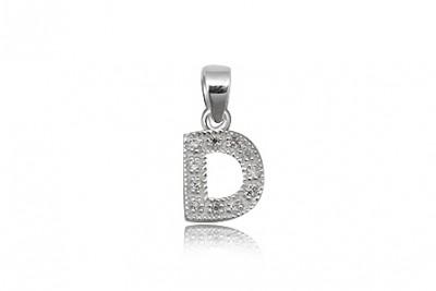 Pandantiv din argint litera D