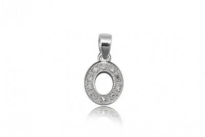Pandantiv din argint in forma de litera O
