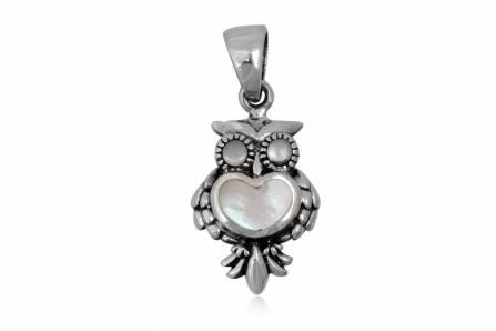 pandantiv bufnita din argint