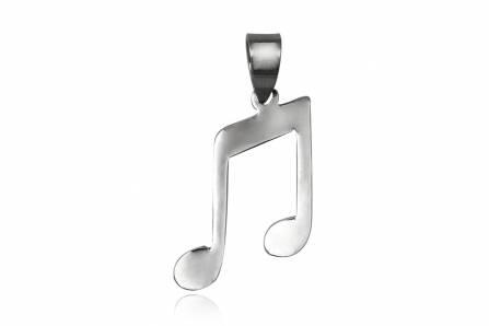 pandantiv din argint nota muzicala