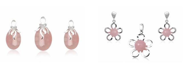 bijuterii cu cuart roz