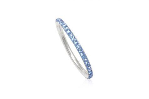 verigheta argint cristale bleu