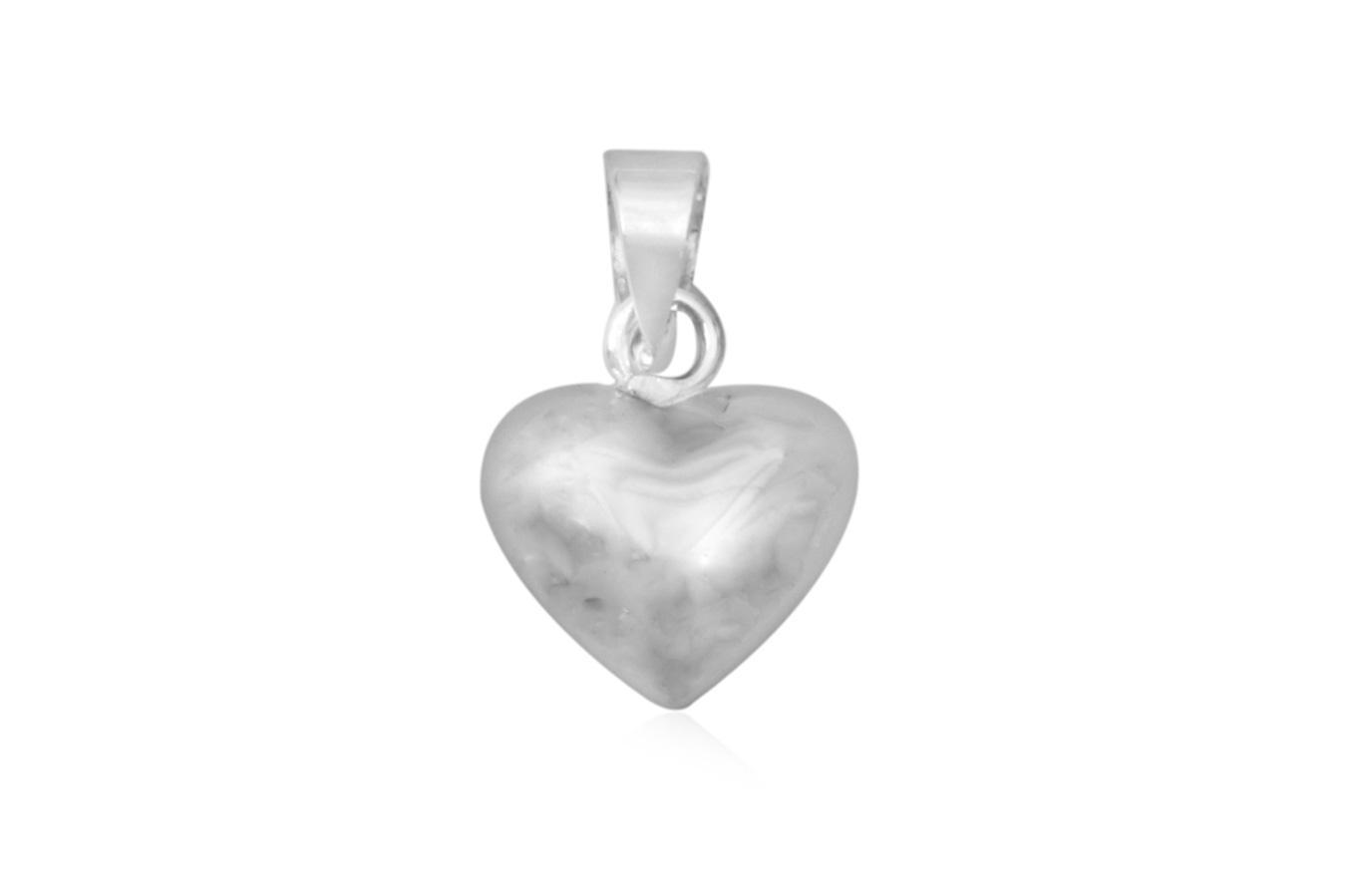 pandantiv inima clasica argint