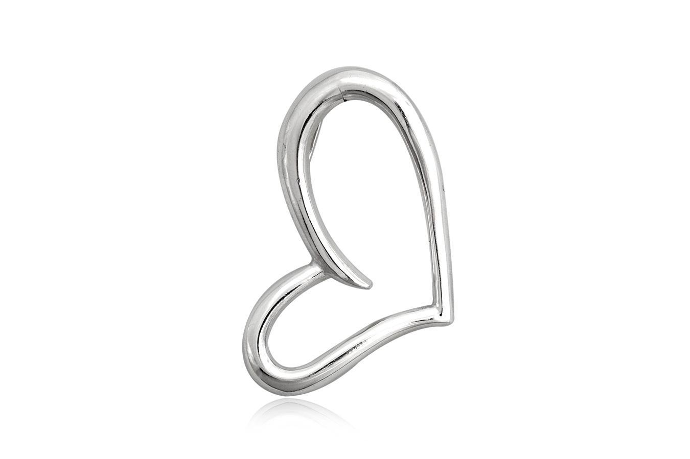 pandantiv inima stilizata argint