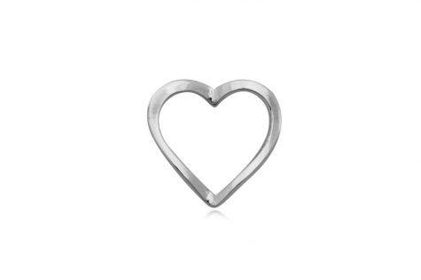 pandantiv inima delicata din argint