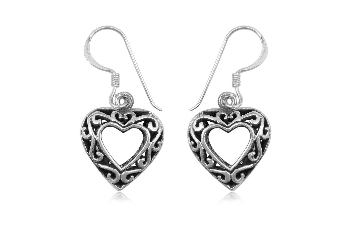 cercei argint inimi orientale