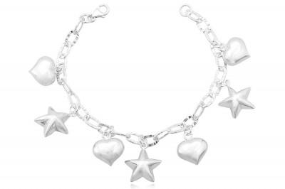 Bratara din argint cu pandante romantice