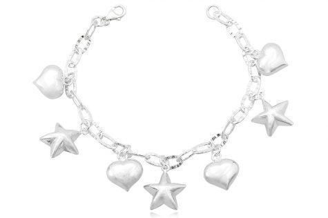 bratara argint cu pandante romantice