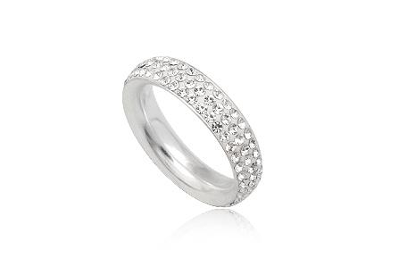 verigheta argint cristale albe