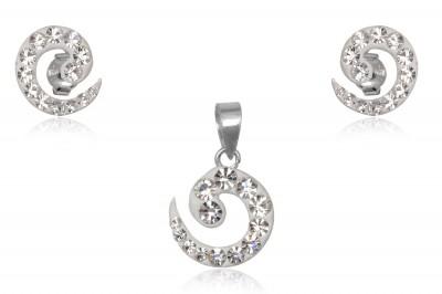 Set din argint cu forma abstracta