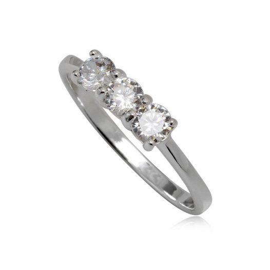 inel din argint cu zirconii stralucitoare