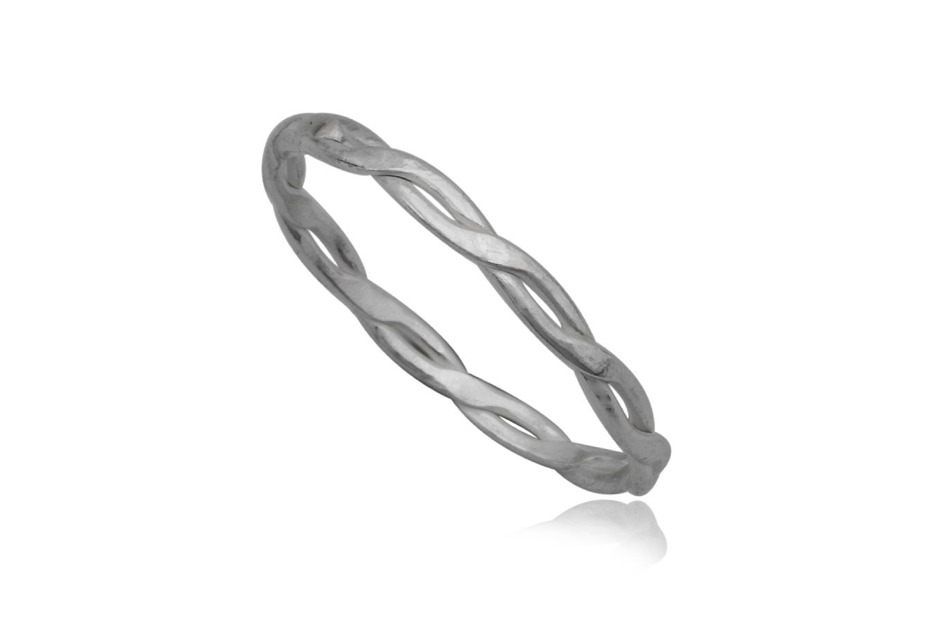 inel din argint tip verigheta