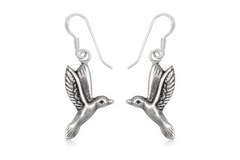 cercei porumbei din argint