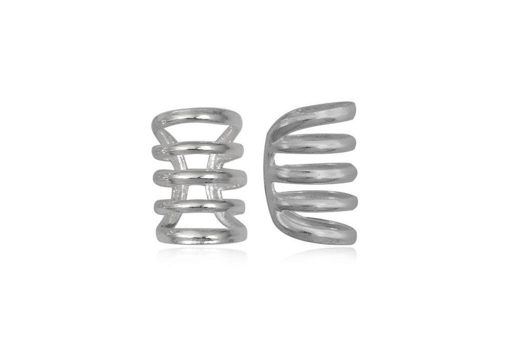 Cercei Ear Cuff Din 5 Spirale De Argint