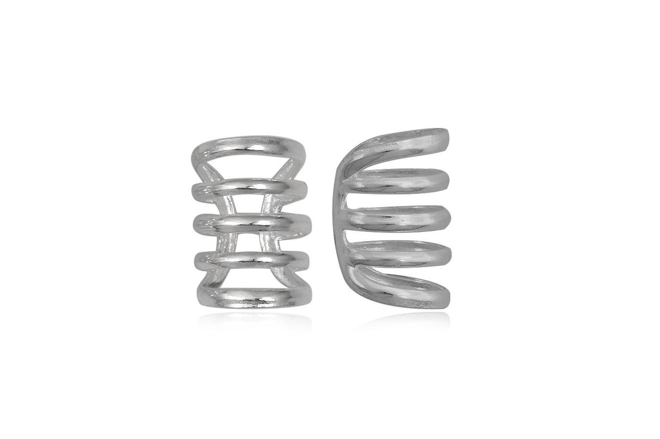 cercei ear cuff cu cinci spirale