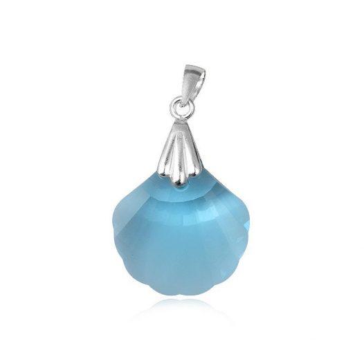 pandantiv scoica din cristal bleu