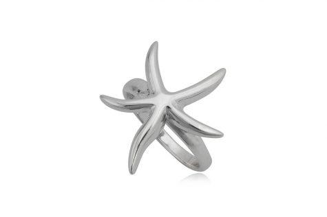 inel argint cu stea de mare