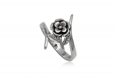Inel din argint cu floricica vintage