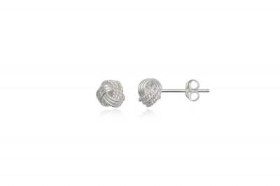 Cercei bobite cu impletitura din argint 6 mm