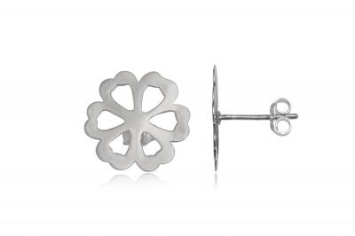 Cercei floricele delicate din argint