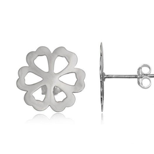 cercei flori delicate din argint