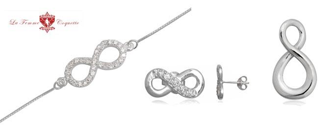 bijuterii cu simbolul infinit