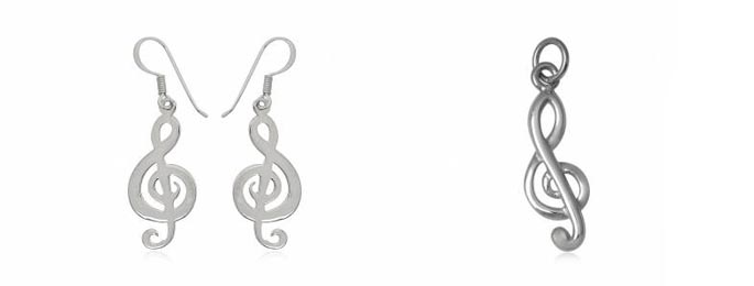 bijuterii note muzicale