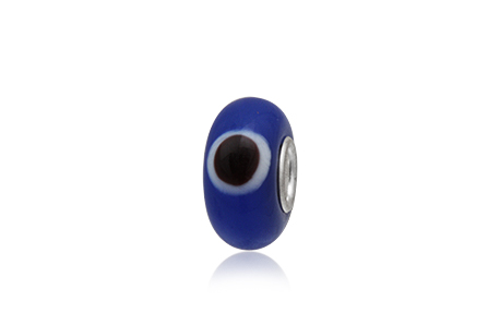 pandantiv evil eye albastru inchis