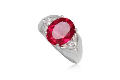 inel cu piatra roz siclam