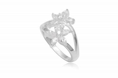 Inel din argint cu flori incantatoare