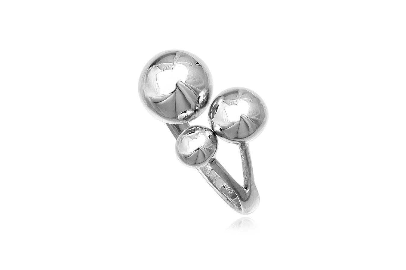 inel cu bobite din argint