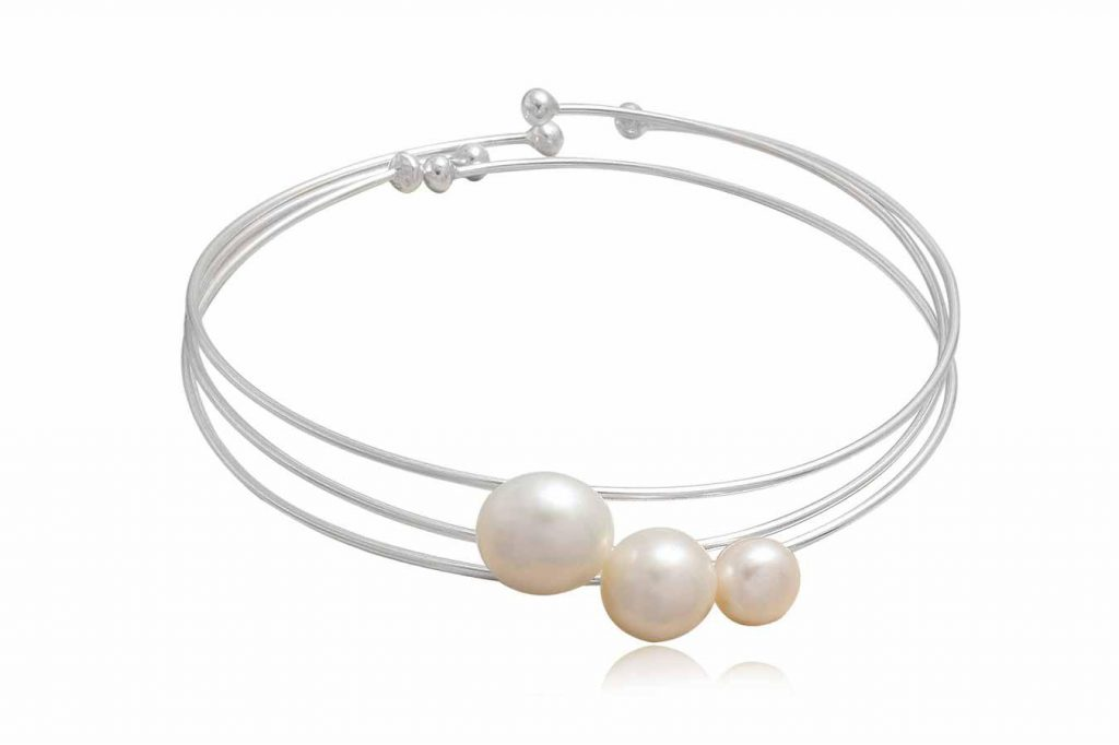 Set 3 Bratari Fine Din Argint Cu Perle