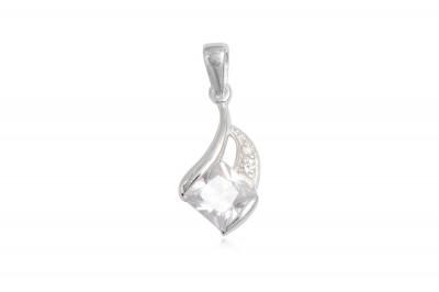 Pandantiv din argint cu zirconia transparent