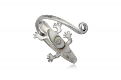 Inel soparla din argint si Ochiul lui Shiva