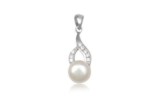 pandantiv cochet din argint cu perla