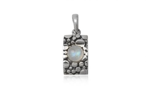 pandantiv argint cu piatra lunii
