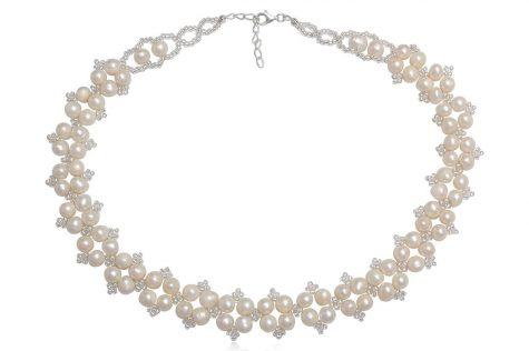 colier de mireasa cu perle