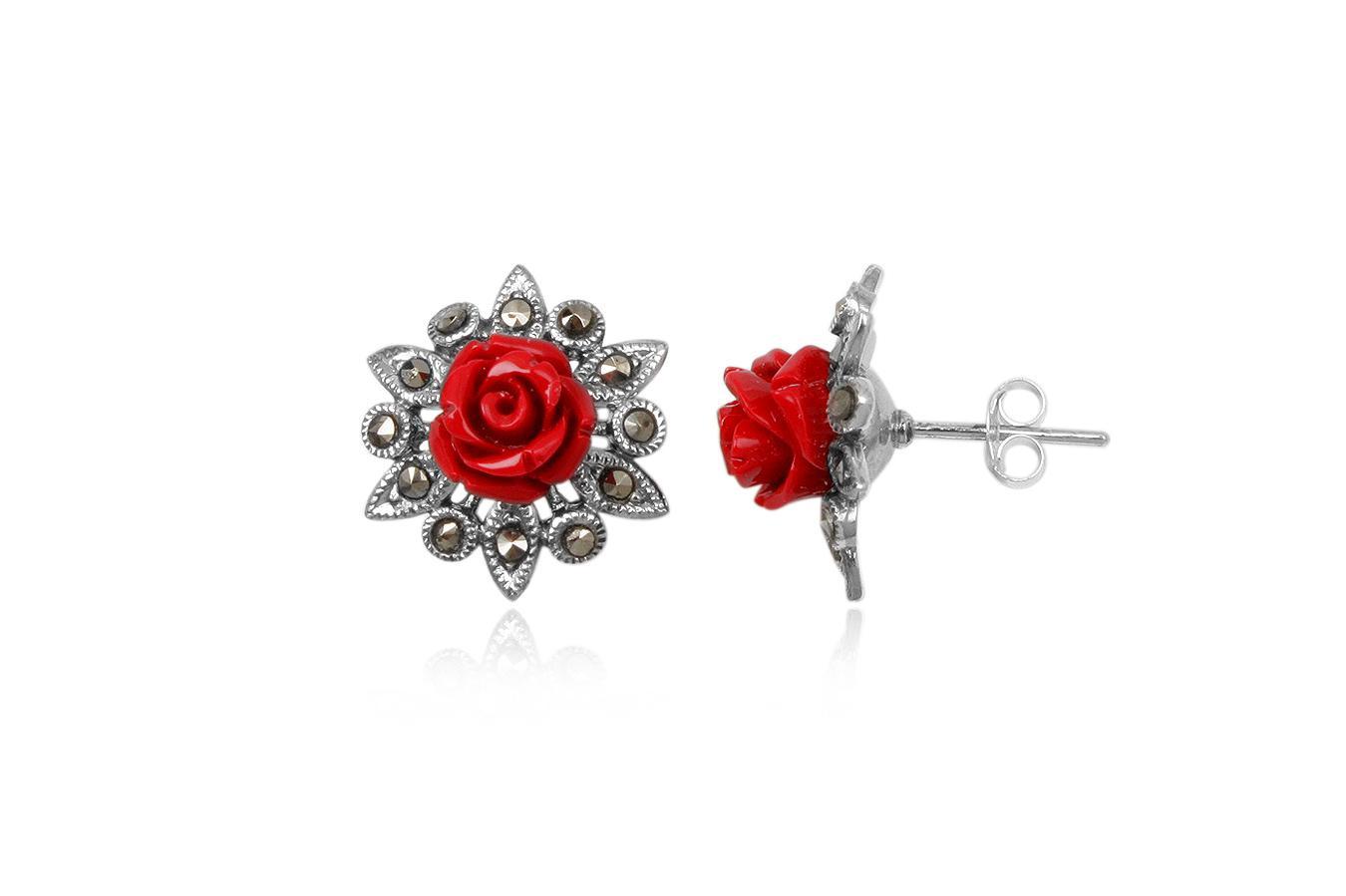 cercei romantici din argint