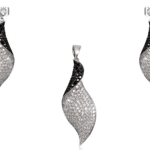 set argint in alb si negru