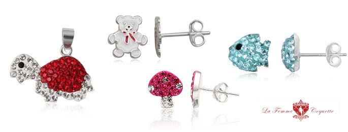 bijuterii din argint pentru copii