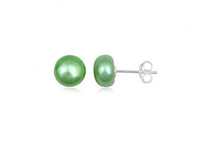 cercei cu perle verzi