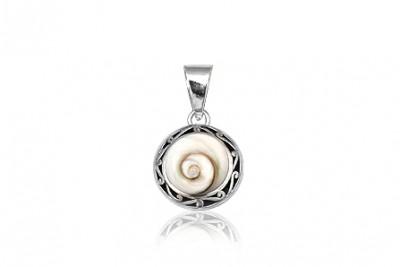 Medalion din argint si Ochiul lui Shiva