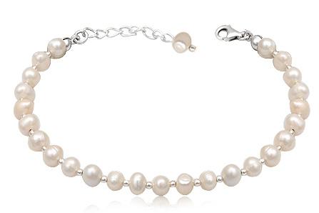 bratara perle albe 7mm