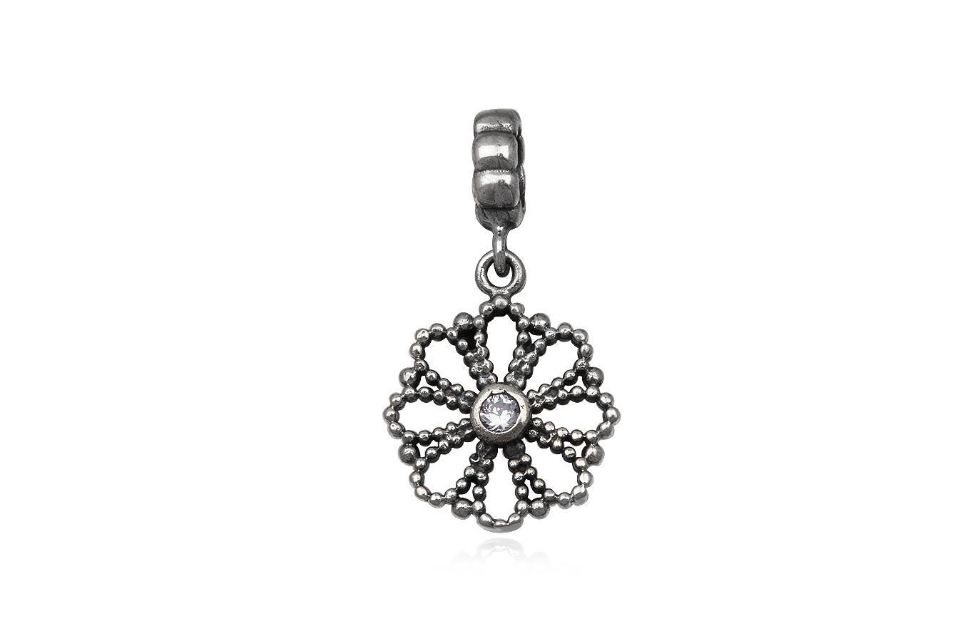 pandantiv floare din argint