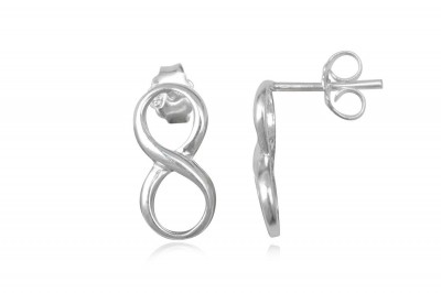 Cercei din argint cu cifra 8
