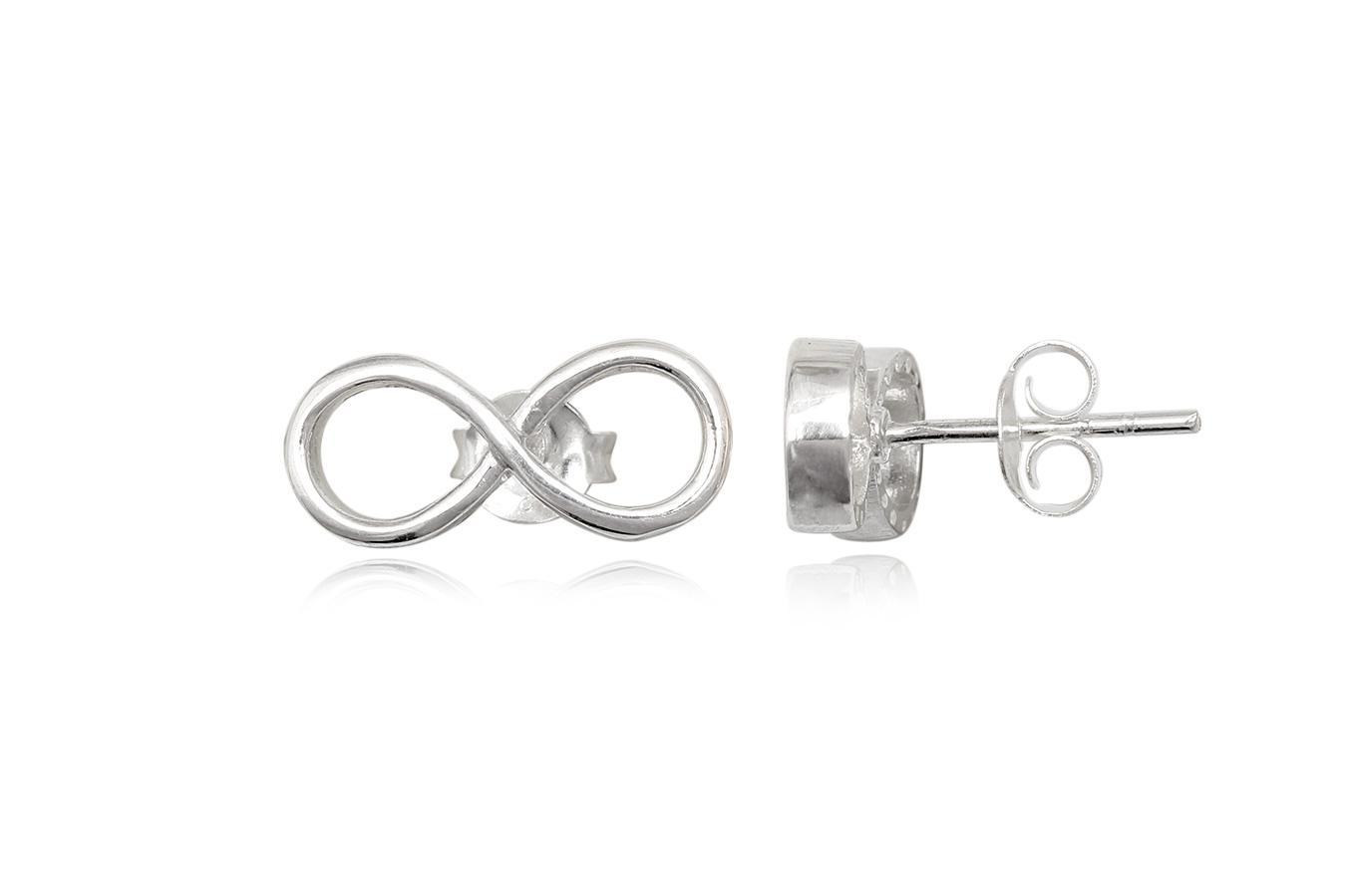 cercei argint simplu si simbol infinit