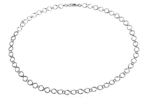 colier argint cu simbol infinit