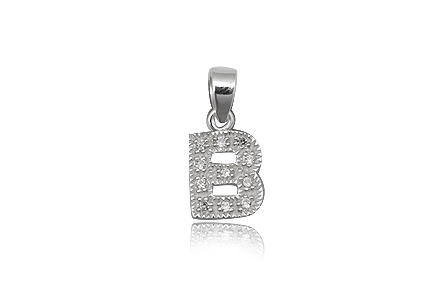 pandantiv argint litera B