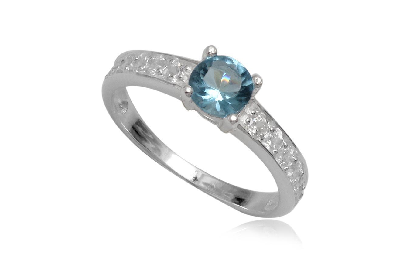 inel logodna piatra bleu