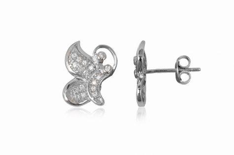 cercei fluturi de argint